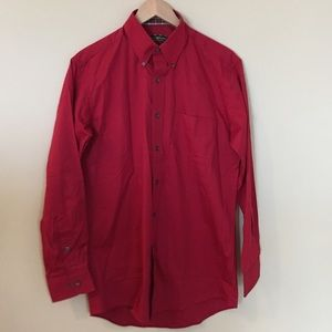 NWOT meds red button up shirt